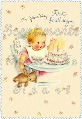 Hugs and kisses Oh what fun, blow out the candle now you're One!Happy First Birthday!